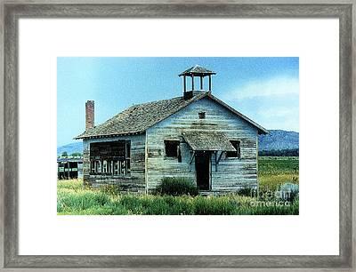 Arapahoe School House Framed Print by Carole  Martinez