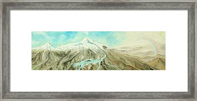 Ararat Framed Print by Sandra Yegiazaryan