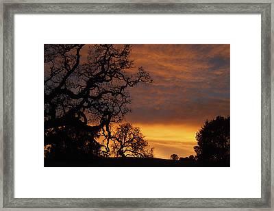 Arastradero Open Space Preserve Sunset Framed Print