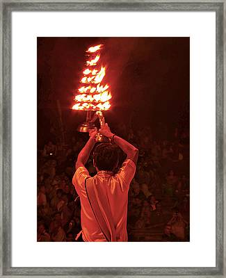 Arati Lamp Framed Print by Girish J