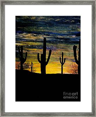 Arazona Sunset Framed Print