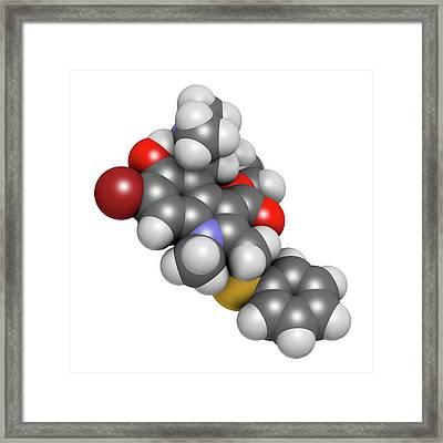 Arbidol Influenza Drug Molecule Framed Print