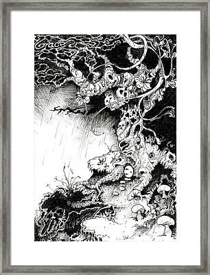 Arbol Framed Print by Julio Lopez