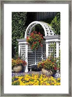 Arbor In The Garden Framed Print