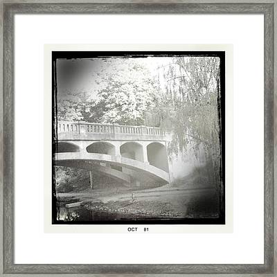 Arboretum Bridge Framed Print by Justine Connolly