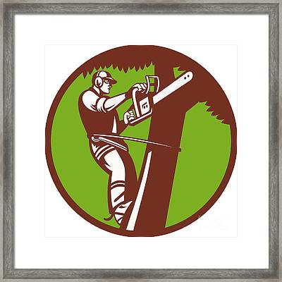 Arborist Tree Surgeon Trimmer Pruner Framed Print