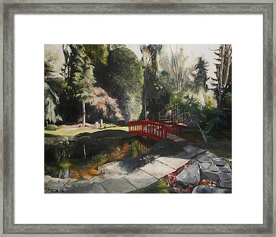 Arbour Bridge Framed Print