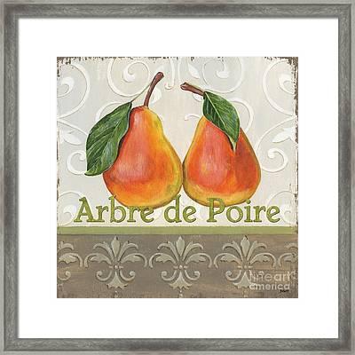Arbre De Poire Framed Print by Debbie DeWitt