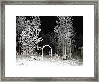 Framed Print featuring the photograph Arc De La Nuit by Brian Boyle