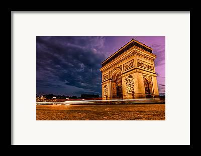 Arc De Triomphe Framed Prints