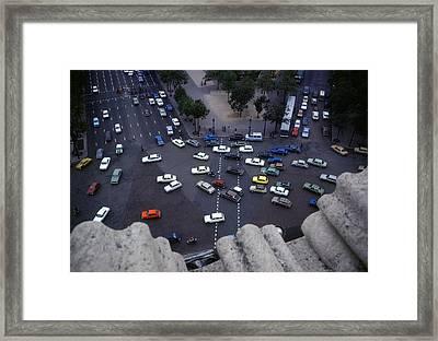 Arc De Triomphe Birds Eye View Framed Print by Roy Williams