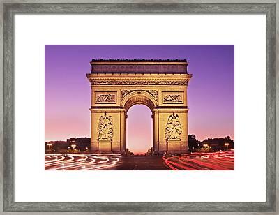 Framed Print featuring the photograph Arc De Triomphe Facade / Paris by Barry O Carroll