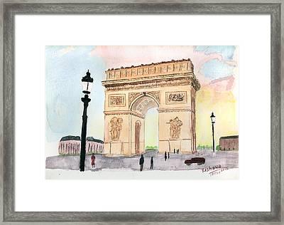 Arc De Triomphe Framed Print by Keshava Shukla