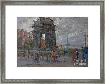 Arc De Triomphe. Moscow Framed Print by Ilya  Izyumov