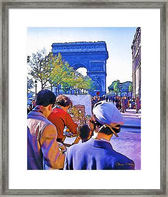 Arc De Triomphe Painter Framed Print by Chuck Staley