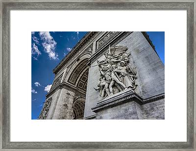 Arc De Triomphe Paris France Framed Print