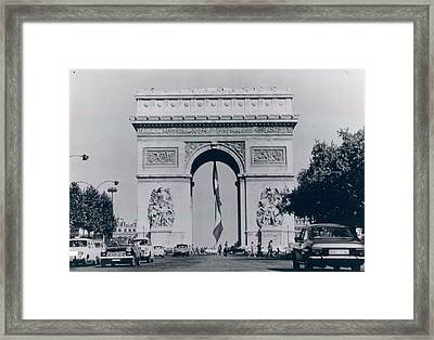 Arc De Triomphe Framed Print by Retro Images Archive