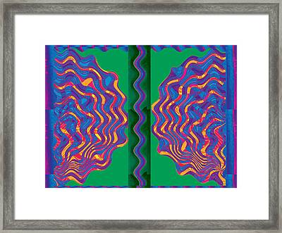 Arc Flames Heat Heated Talk Arguments Temper Turmoil Discussion Seperation Heat Spectacle Brothers P Framed Print by Navin Joshi