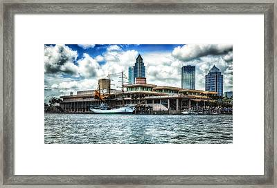 Arc Gloria In Port In Hdr Framed Print by Michael White