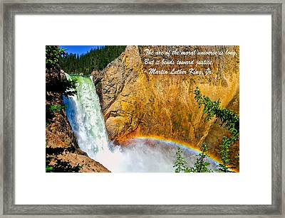 Arc Of The Moral Universe Framed Print