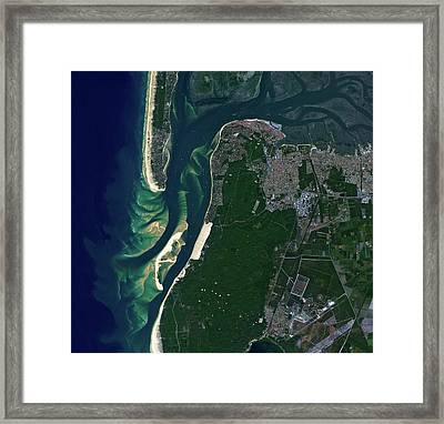 Arcachon Bay Framed Print by Jaxa/european Space Agency