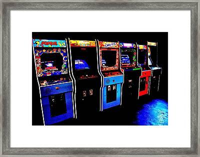 Arcade Forever Nintendo Framed Print
