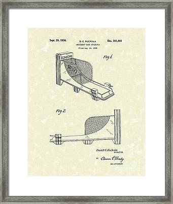 Arcade Game 1936 Patent Art Framed Print by Prior Art Design