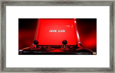 Arcade Game Game Over Framed Print by Allan Swart