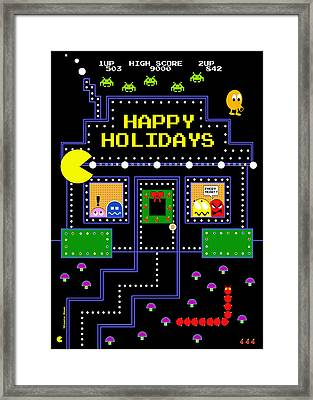 Arcade Holiday Framed Print