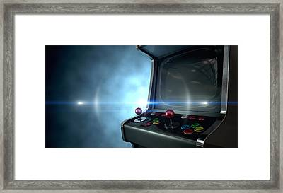 Arcade Machine Dramatic View Framed Print