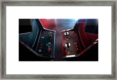 Arcade Machine Opposing Duel Framed Print