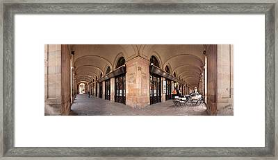 Arcades And The Famous Restaurant 7 Framed Print by Panoramic Images
