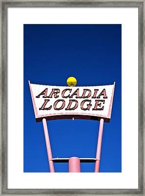 Arcadia Lodge Framed Print