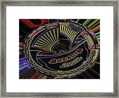 Arcadia Space Needle Abstract Framed Print by Marian Bell