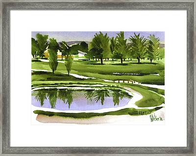 Arcadia Valley Country Club Dramatic Framed Print
