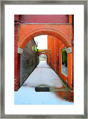 Arch And Corridor Framed Print