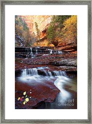 Arch Angel Cascades 2009 Framed Print