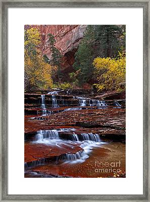 Arch Angel Cascades 2011 Framed Print