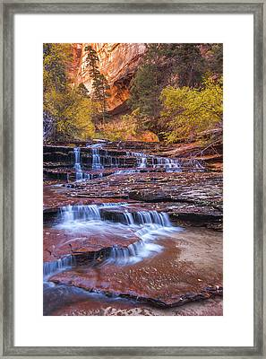 Arch Angel Cascades Framed Print by Joseph Rossbach