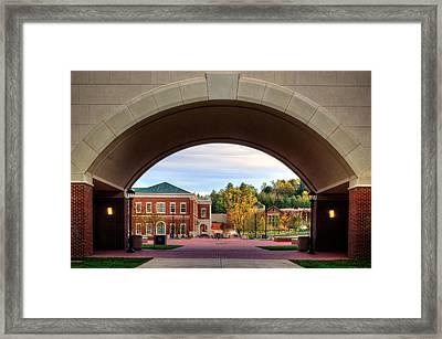 Arch At Balsam Hall - Western Carolina University Framed Print