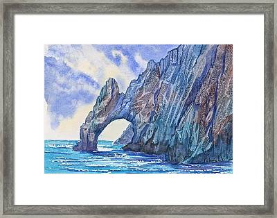 Arch At Cabo Framed Print