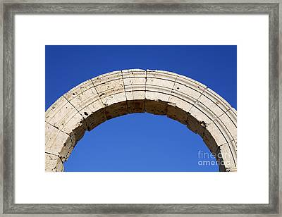 Arch At Leptis Magna In Libya Framed Print