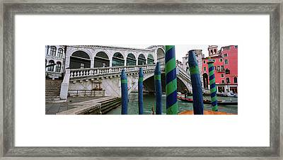 Arch Bridge Across A Canal, Rialto Framed Print