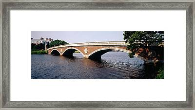 Arch Bridge Across A River, Anderson Framed Print by Panoramic Images