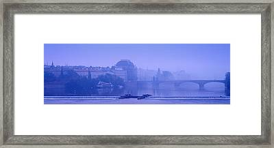Arch Bridge Across A River, National Framed Print