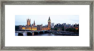 Arch Bridge Across A River, Westminster Framed Print