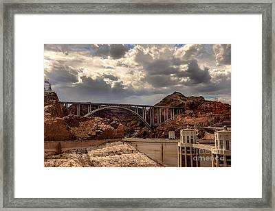 Arch Bridge And Hoover Dam Framed Print by Robert Bales