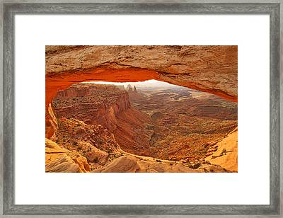 Arch Canyon View Framed Print by Steve Luther