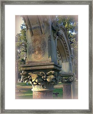 Arch Detail From Cemetery Framed Print by ARTography by Pamela Smale Williams