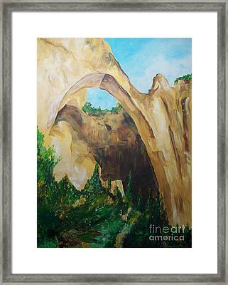 Framed Print featuring the painting Arch by Eric  Schiabor